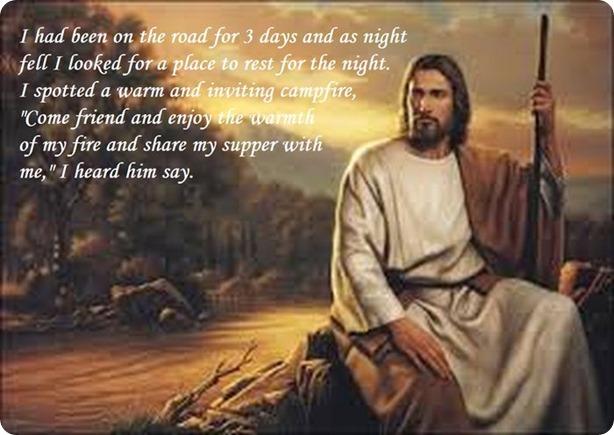 Jesus on a road