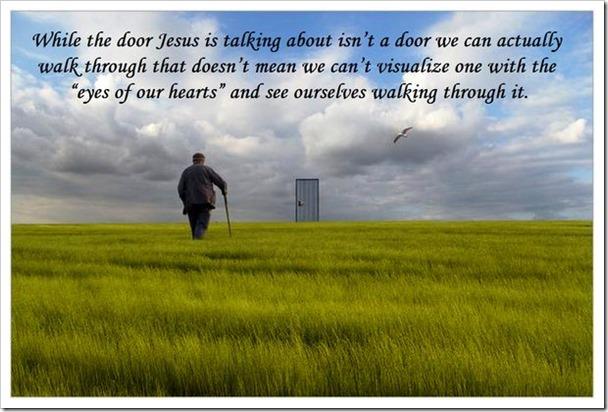Walking through the door
